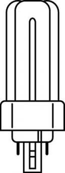 Osram Kompakt-Leuchtstofflampe DULUX T/E 42W/827 PLUS GX24Q / EEK: A
